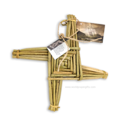 Handwoven Saint Brigid's Cross - 11 Inch