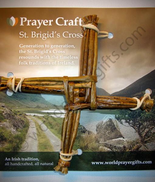 "6"" St Brigid's Woven Cross | Irish Handmade Saint Brigid's Cross"