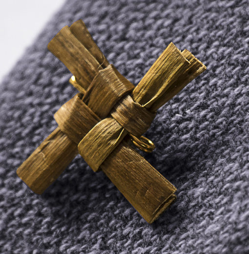 Handwoven Saint Brigid's Cross Brooch