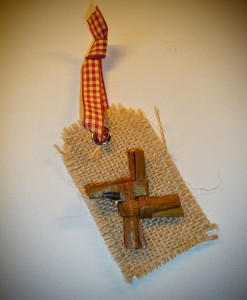 Saint Brigid's Cross Christmas Tree Decoration | Handmade Irish Saint Brigid's Cross