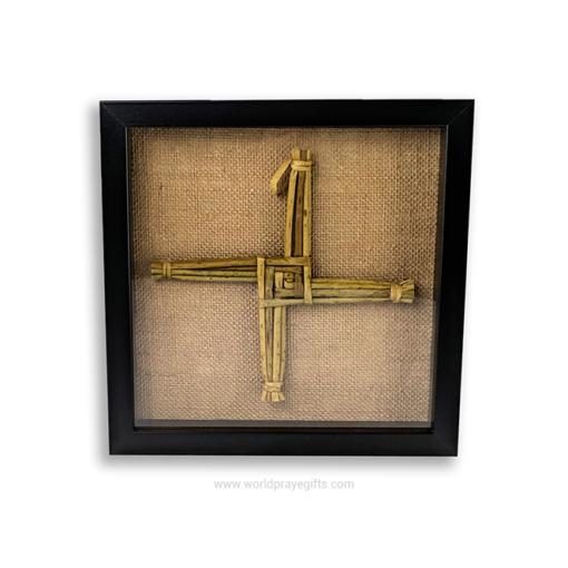 Black Framed Saint Brigid's Cross