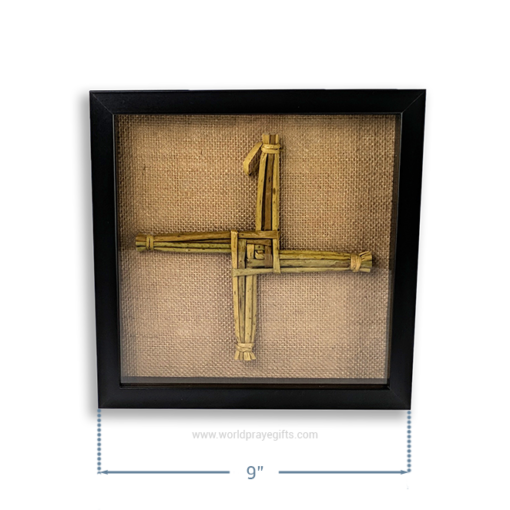 Black Framed Saint Brigid's Cross - Dimensions