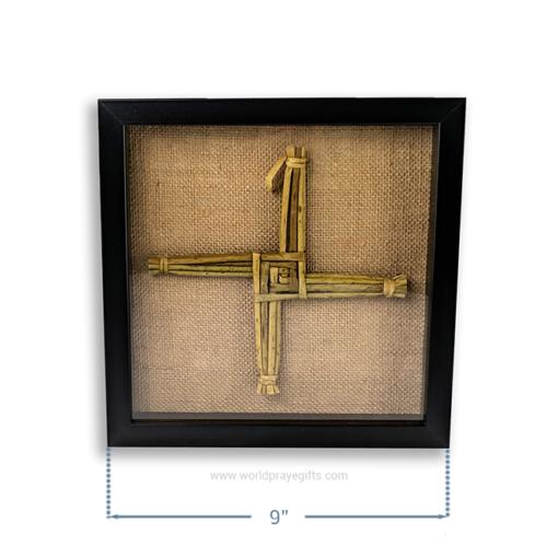 Black Framed Saint Brigid's Cross - Dimensions