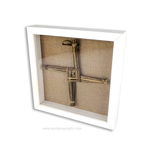 White Framed Saint Brigid's Cross
