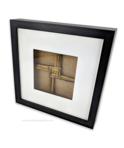 Black Framed Saint Brigid's Cross