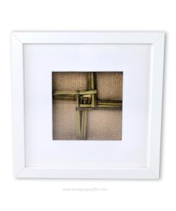 White Framed Saint Brigid's Cross