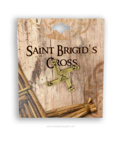 Saint Brigid's Cross Brooch | 2.5cm | Brass Finish