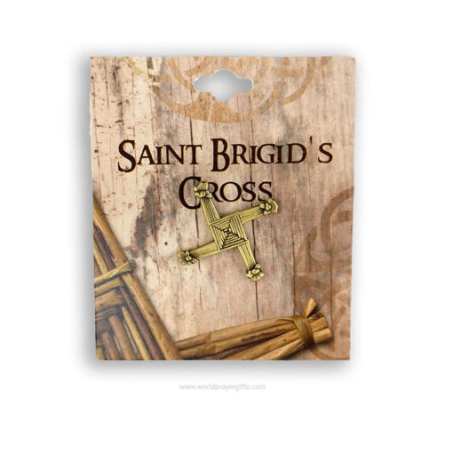 Saint Brigid's Cross Brooch | 2.5cm | Brass Finish