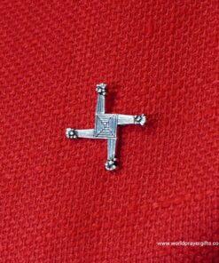 Saint Brigid's Cross Pin | Lapel Pin | Silver Finish