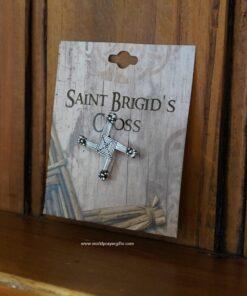 Saint Brigid's Cross Pin | Silver Finish | World Prayer Gifts