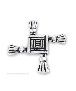 St. Brigid's Cross - White Metal Paper Weight