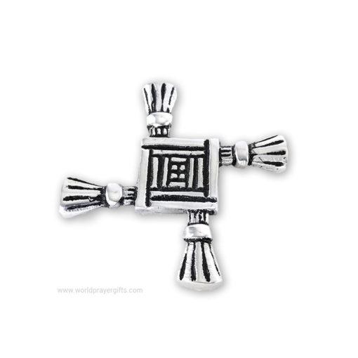 St. Brigid's Cross - White Metal Paper Weight