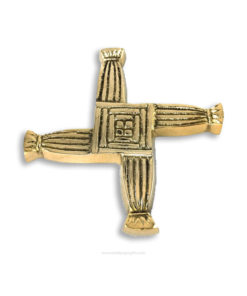 Solid Brass Saint Brigid's Cross