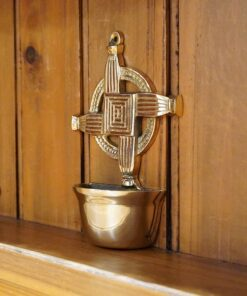 Saint Brigid's Cross Holy Water Font