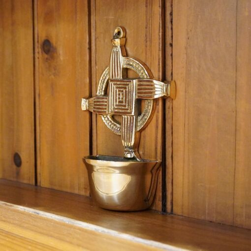 Saint Brigid's Cross Holy Water Font